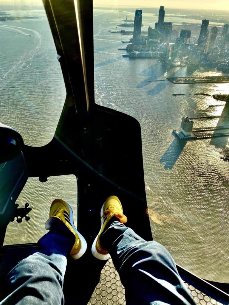 Aussicht aus dem Helikopter nach unten