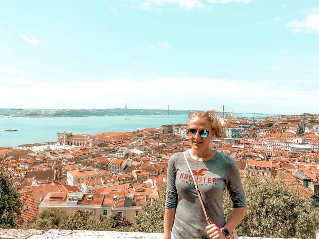 Aussicht über Lissabon Tejo