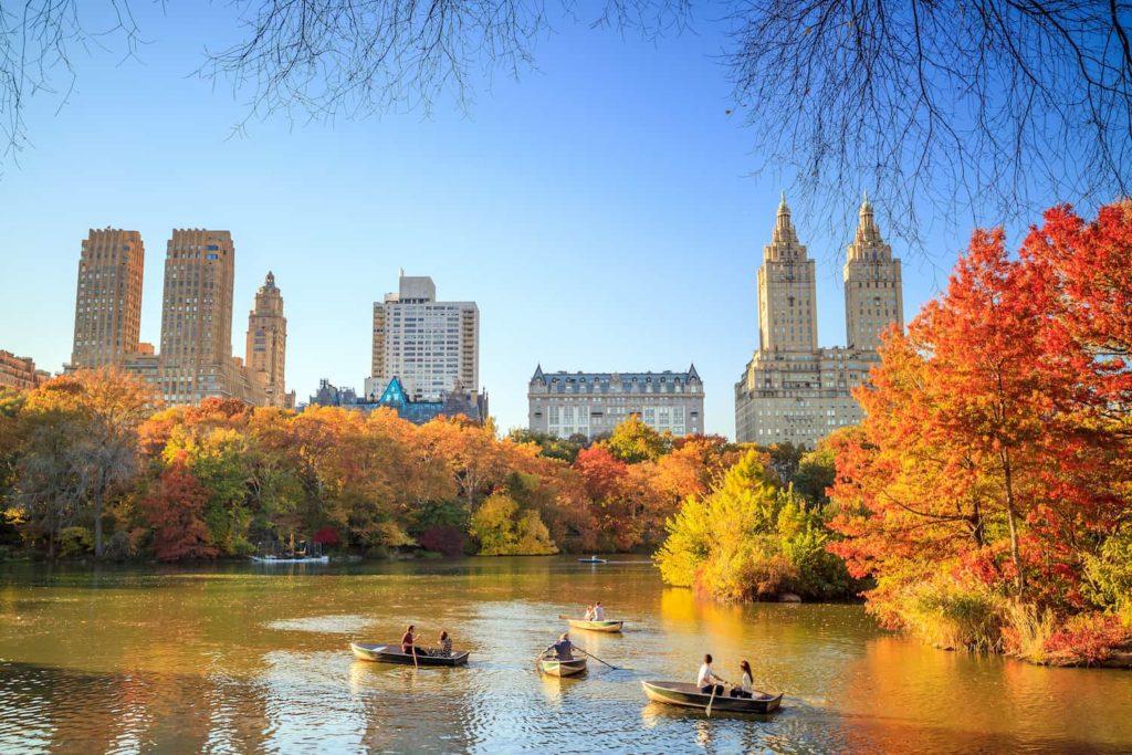 Im Central Park kann man auch ein Boot leihen