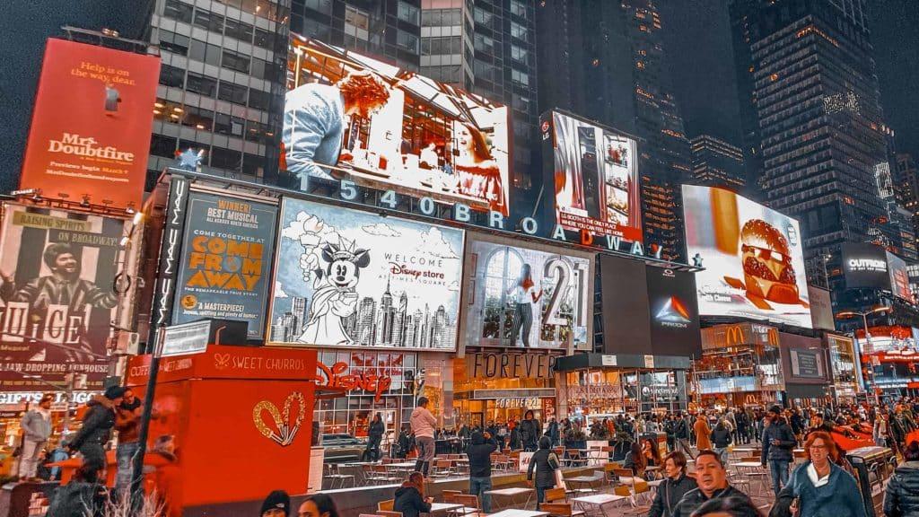 Der Broadway befindet sich am Times Square