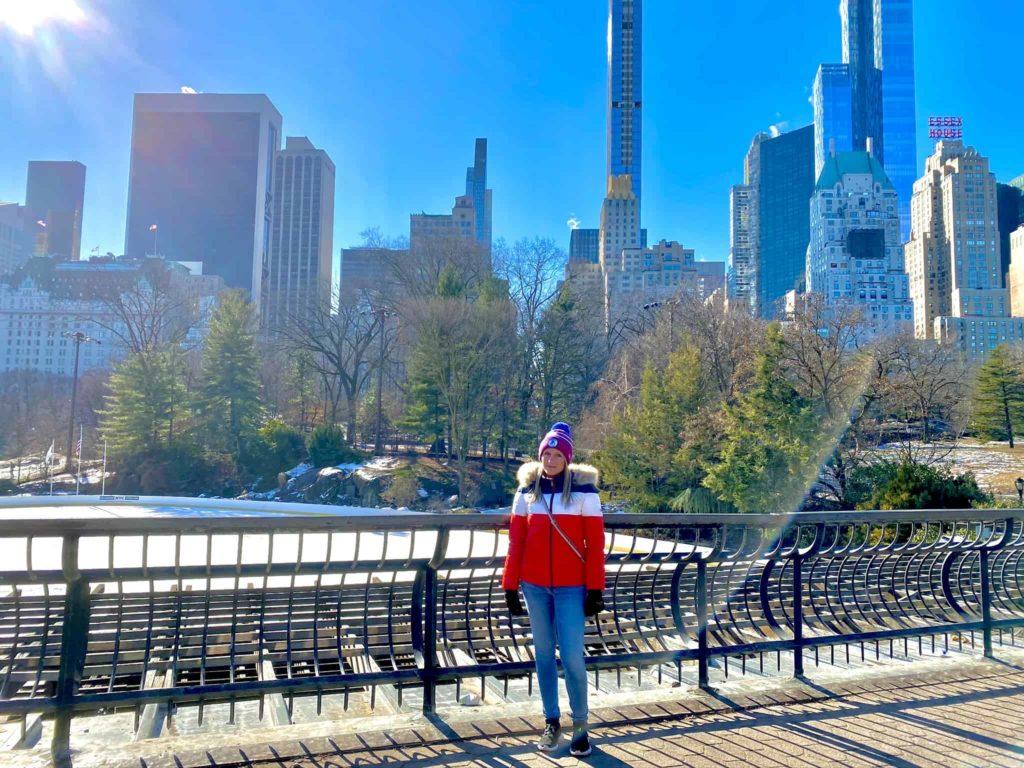 Central Park mit Kim