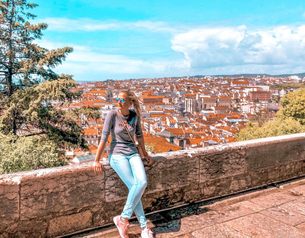 Dächer von Lissabon Castelo de Sao Jorge Kim