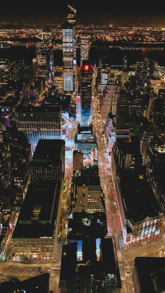 Blick von der Aussichtsplattform des Empire State Building