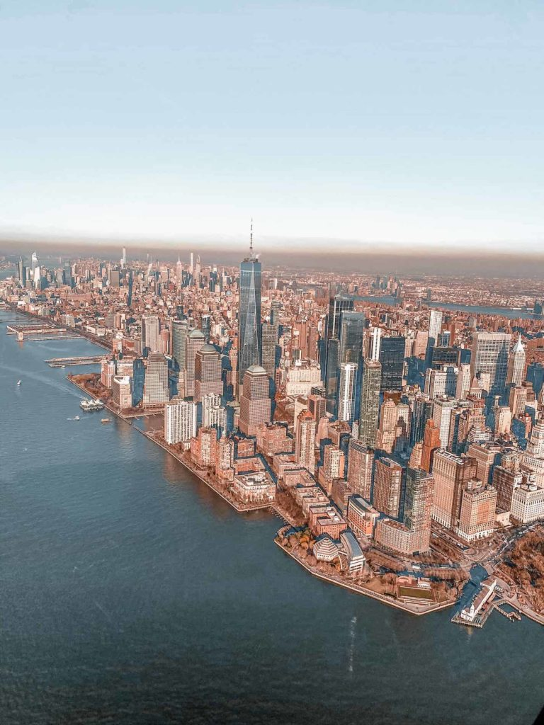 Das südliche Manhattan von oben