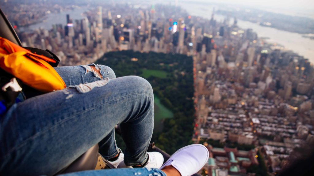 Helikopterrundflug ohne Türen über New York