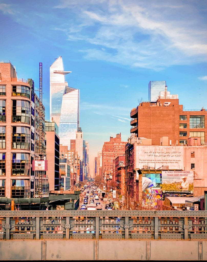 Vom High Land Park kann man auf das WTC One schauen