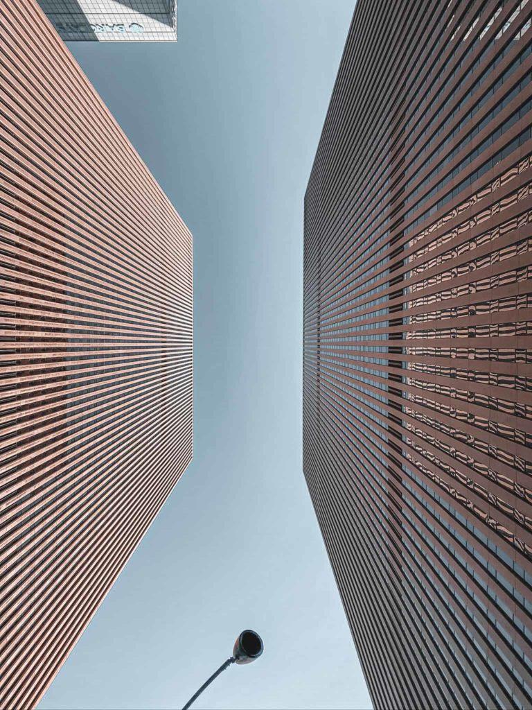 New York Gebäude von unten