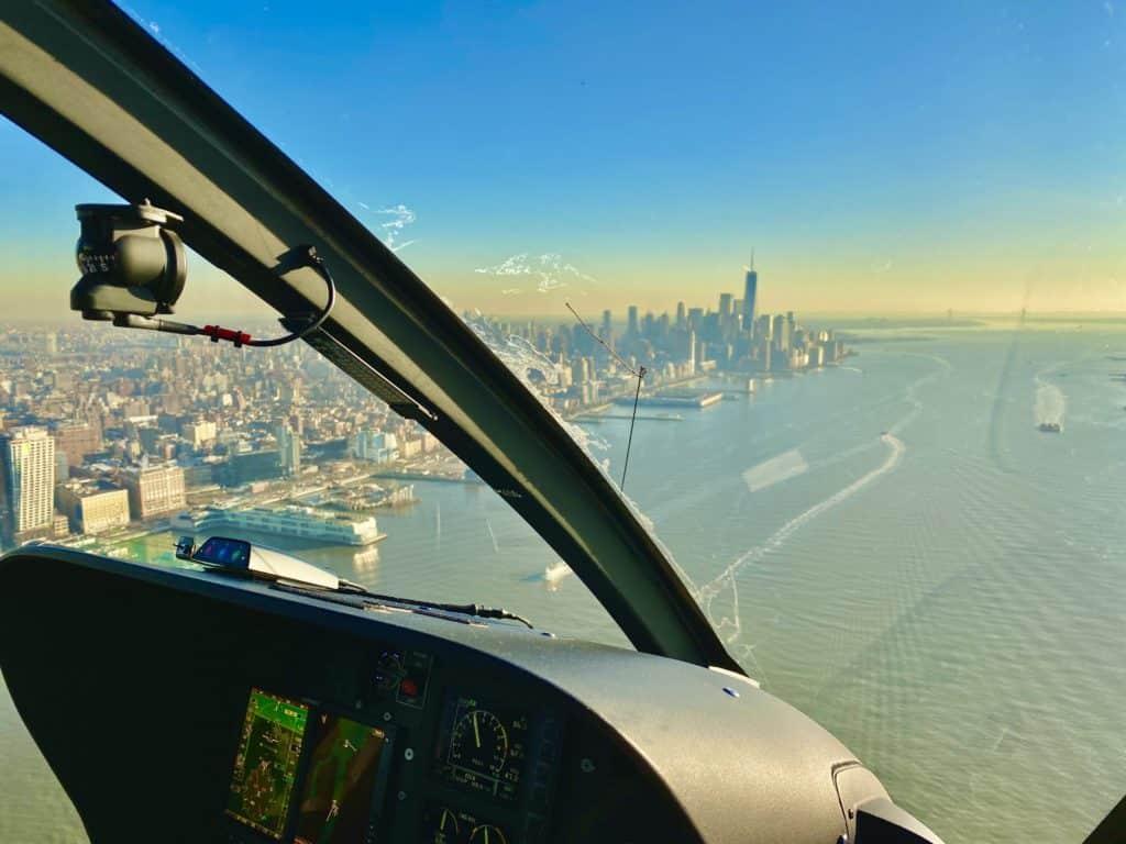New York Skyline aus dem Hubschrauber