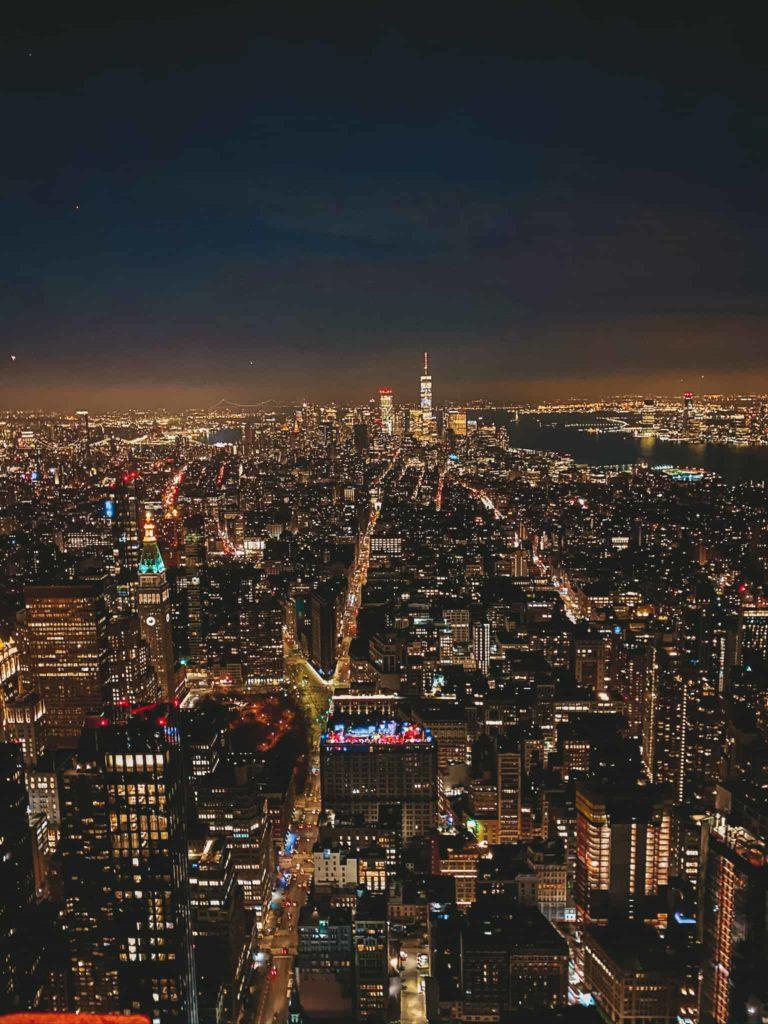 Empire State Building Aussichtsplattform nachts