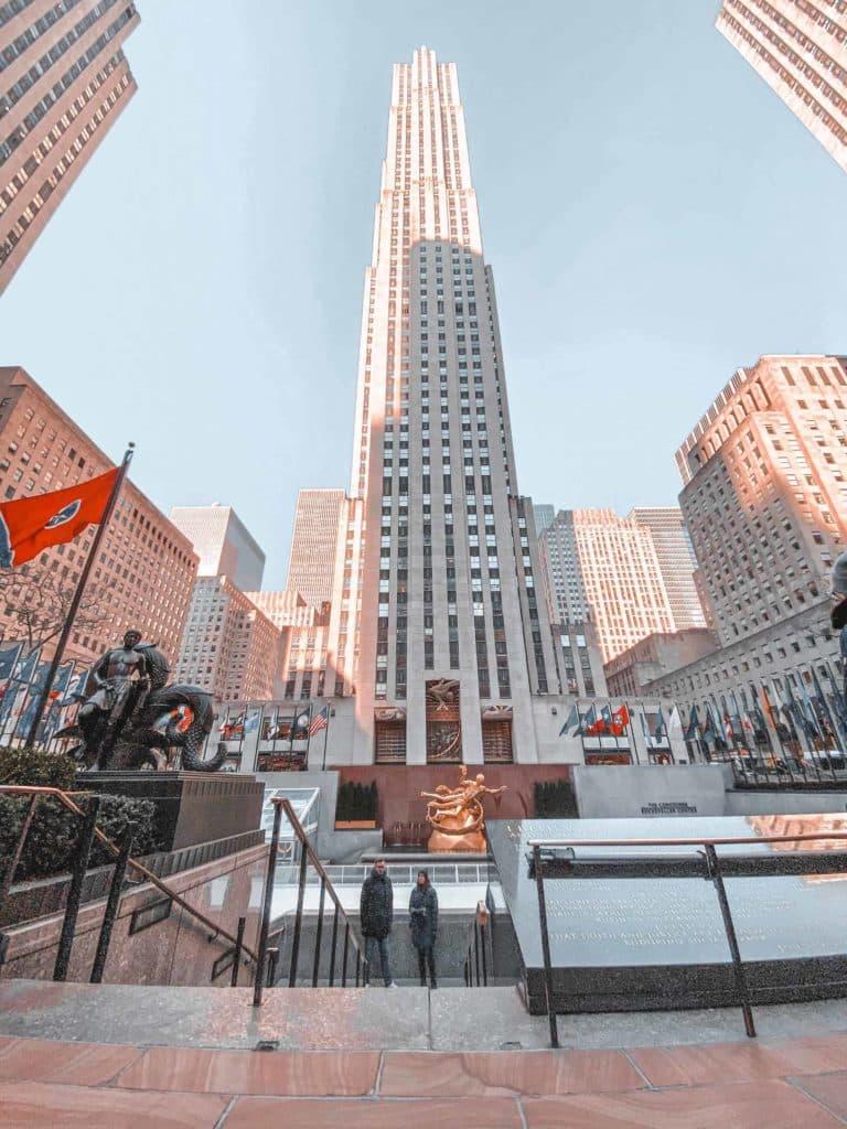 Rockefeller Center beste Uhrzeit für Aussichtsplattform