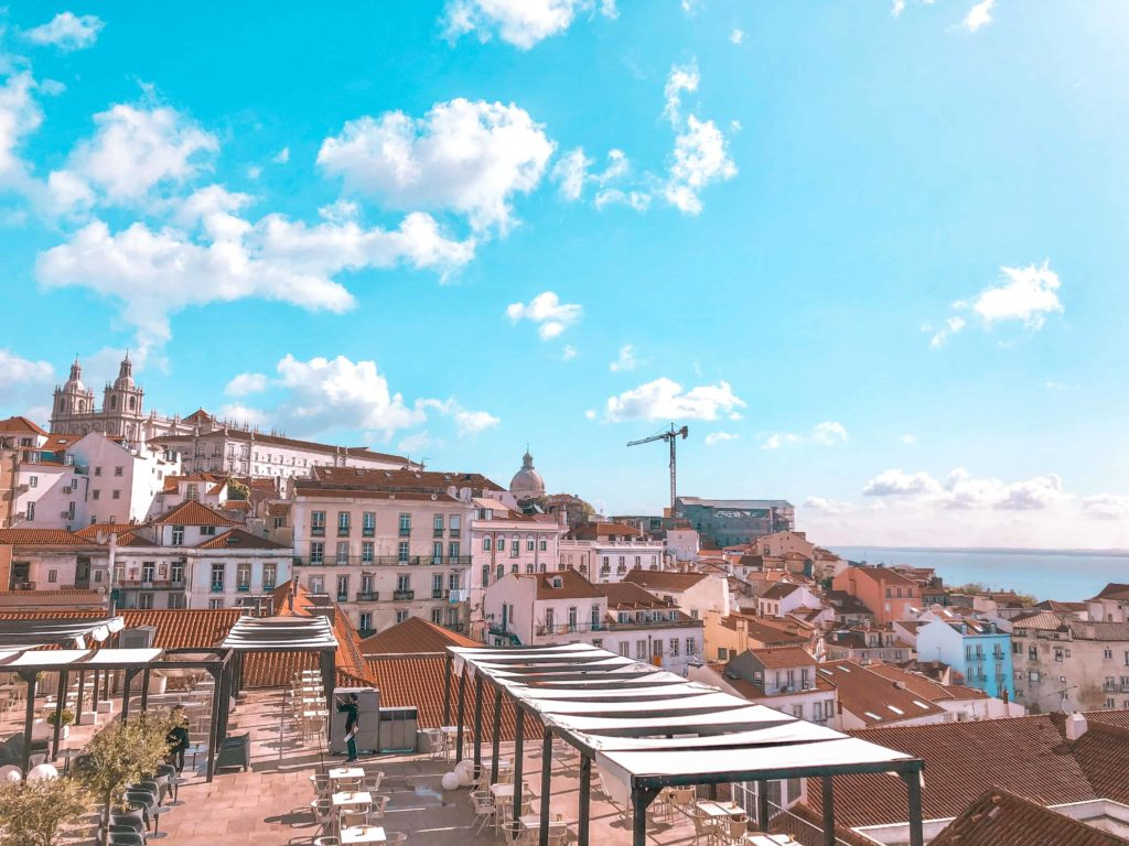 Santa Luzia Aussicht über Lissabon