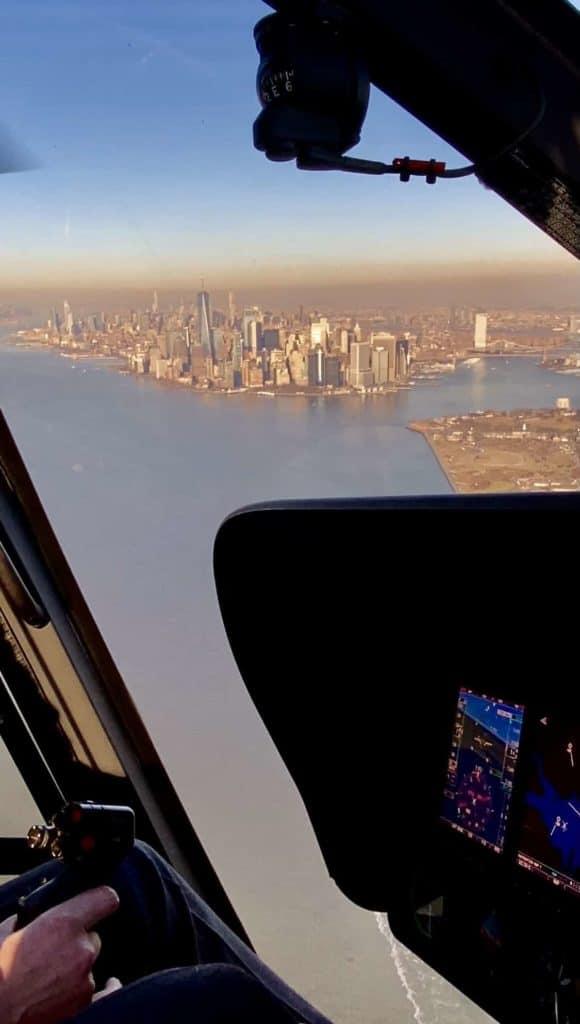 Hudson River und Südmanhattan aus dem Hubschrauber
