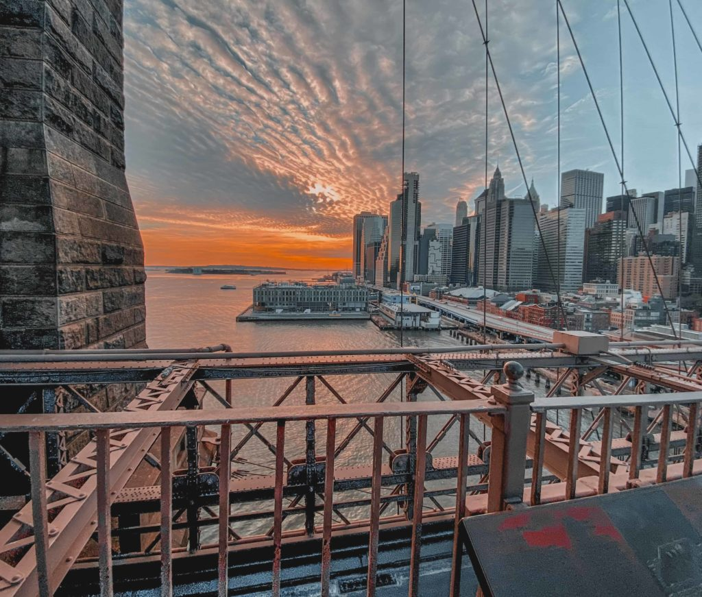 Touristenattraktion Brooklyn Bridge