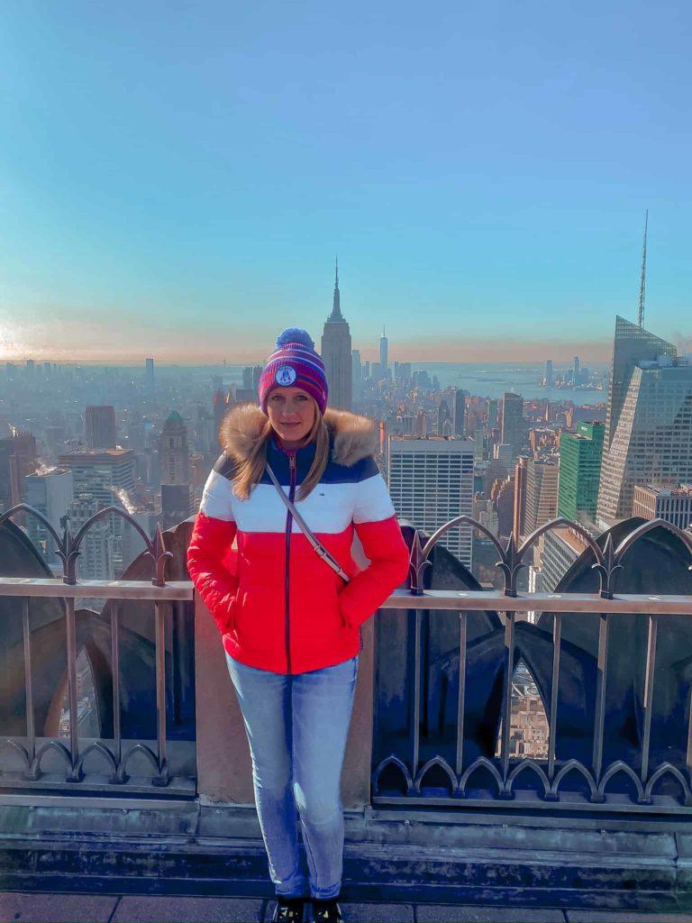Aussicht zum Empire State Building vom Top of the Rock
