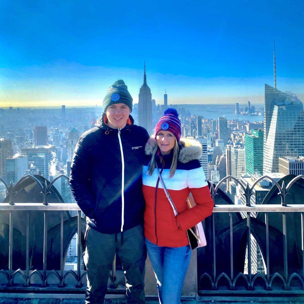 Kim & Christian auf der Aussichtsplattform des Rockefeller Centers