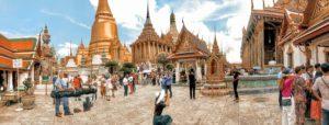 Panoramabild vom Koenigspalast in Bangkok