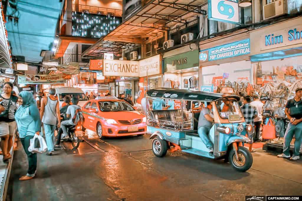 Mit dem Taxi kommt man in Bangkok überall hin