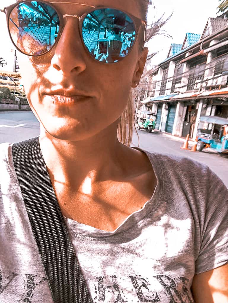 Fahrt mit dem Tuk Tuk durch Bangkok