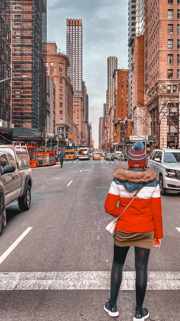 Viel befahrene Straße in New York