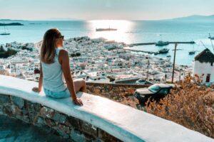 Ausblick über Mykonos Stadt - Secret Place