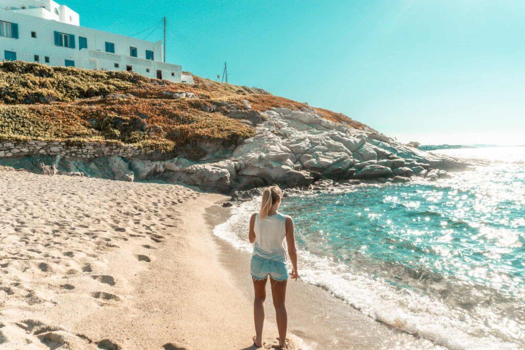Strand Paralia Megali Ammos auf Mykonos