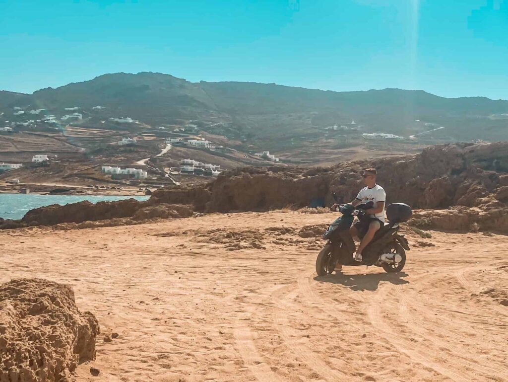Mykonos Roller fahren