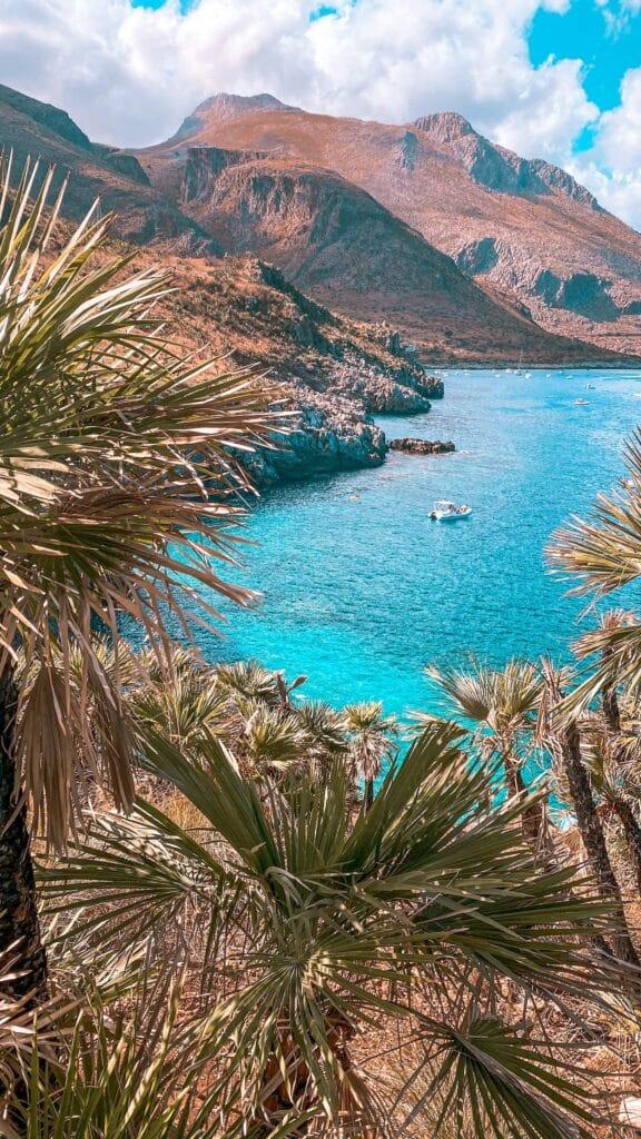 Wunderschöne Aussicht in Sizilien