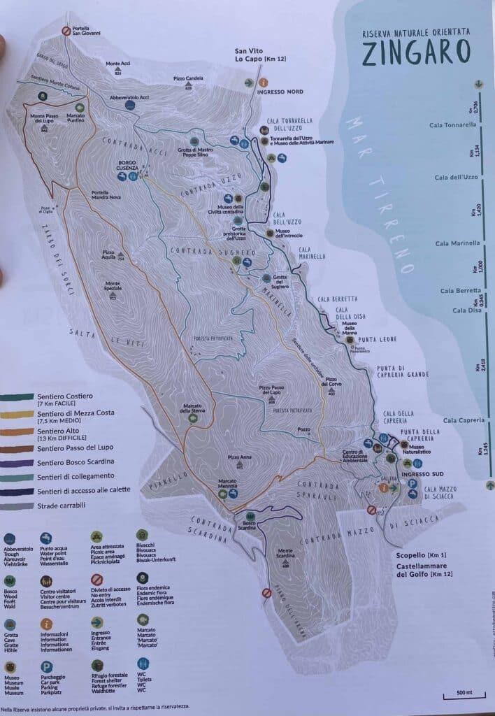 Zingaro Nationalpark Karte Kopie